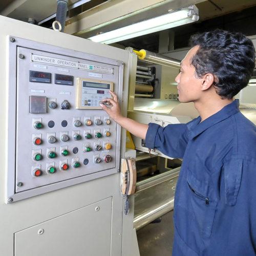 OPP Coating, Unwinder Control Panel